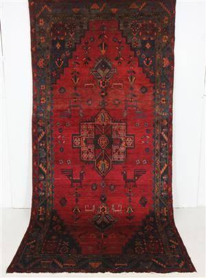 Persisk handknuten matta, Bakhtiari 307x146 cm