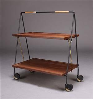 Sammenklappeligt rullebord, 1950erne