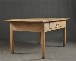 Bord med låda, Allmoge, Danmark, 1800-tal