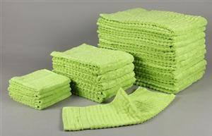 KEOPS Collection - Håndklædesæt med 20 stk LIME GRØN 20