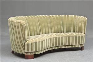 Dansk møbelproducent Sofa i let buet form, 193040erne
