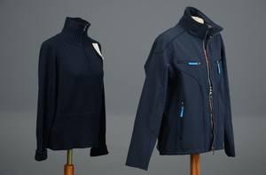 Key West softshell jakke samt strik str. medium