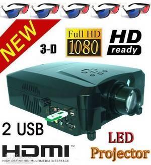 Video projector Full HD 3D led LCD Projector 1080P m 3 HDMI 2USB