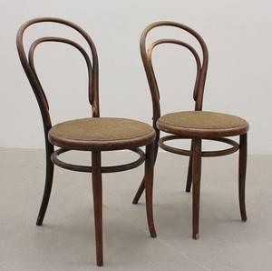 Stolar, ett par, Michael Thonet, modell No 14