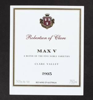 11 fl. Robertson of Clare Max V 2005 11