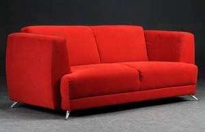 rød stof sofa