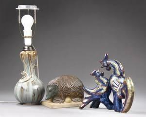 Tre dele keramik, bl.a Karl Otto Johansen for BG og Michael Andersen  søn 3