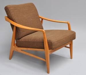 Ubekendt møbelarkitekt. Lænestol i ask, 1960erne