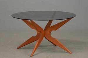 Sika Møbler Sofabord med stjerneformet stel af teak