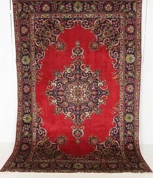 Handknuten äkta matta, Tabriz, 300x200 cm