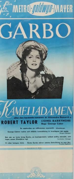 Filmaffisch, Kameliadamen, Greta Garbo