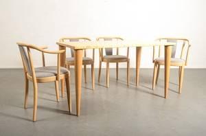 Fyra matstolar, matbord Gemla möbler AB 5