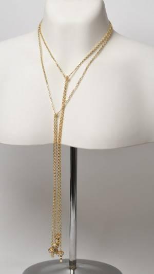 To bindekæder af forgyldt sterling sølv  med beads - Charlotte Borgen 2