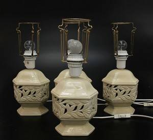 Lampor, 4 st, porslin 4
