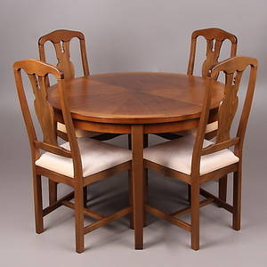 MATSALSGRUPP, 7 delar, Breox möbler, 1960-tal.