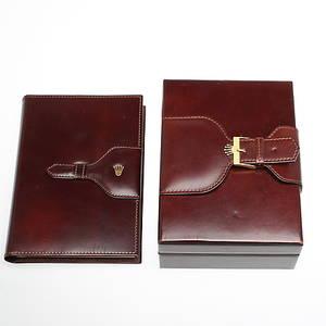 ASK  KALENDER, i läder, Rolex, 70-tal.