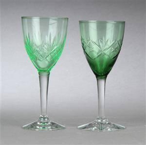 En samling hvidvinsglas, bl.a. Arne, Holmegaard 21