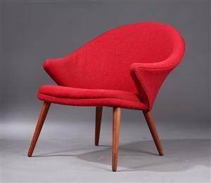 Ubekendt dansk møbelarkitektproducent, hvilestol, 1950-erne