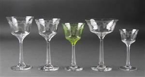 Glasbesætning af krystal glas 35