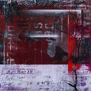 Mikael Altersten, Urban delight I, mixed media på duk