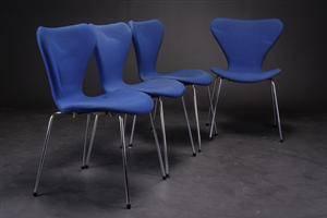 Arne Jacobsen. Fire stole, model 3107 4