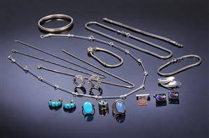 Samling sølvsmykker i sterlingsølv og sølv 181