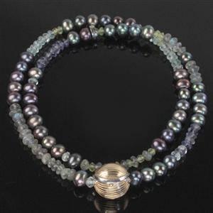 Ole Lynggaard ferskvands perle collier med 14 kt. kuglelås