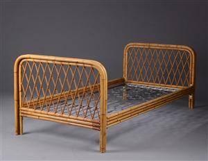 bambus seng Slutpris för Enkelmandsseng med ramme af bambus bambus seng