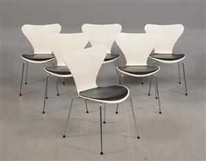 Arne Jacobsen - Seks Syverstole model 3107 6