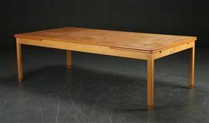 Morten Olsen  Søn, Møbelsnedkeri. Stort konferencebord med hollandsk udtræk, teak- og egetræ