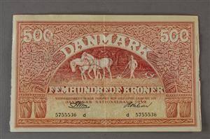 Danmark. 500 kr. Plovmand 1959