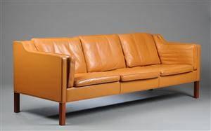 Børge Mogensen. Tre-pers. sofa model 2213