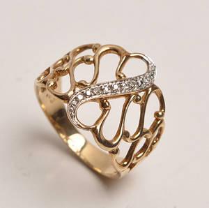 Moderne diamantring