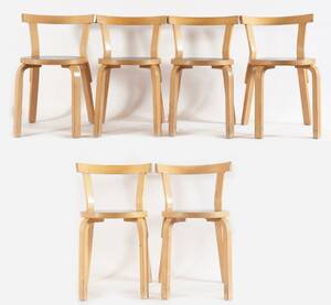 Stolar 6st, Alvar Aalto, modell 68