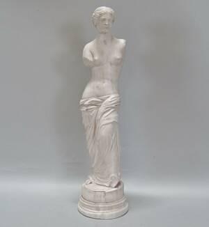 Statyett, Venus Di Milo konstmassa, H 57 cm.