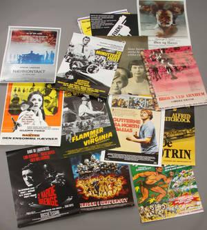 En samling på 60 diverse filmplakater. 60