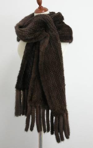 Strikket Scan Brown Mink tørklæde