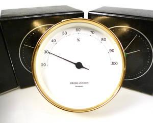 6 st Georg Jensen, design Henning Koppel, hygrometer 6