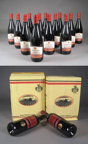 Vin de Pays L´Herault samt Bodegas Fernando Castro rødvin 25