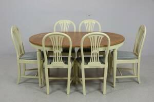 MATBORD, samt STOLAR, 6 st, Axet, gustaviansk stil, Blomstermåla möbelfabrik