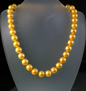 Südsee-Perlencollier gelb