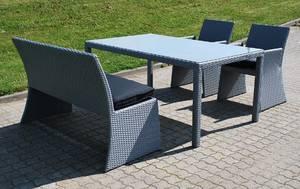 UdestueHavemøbler Loungemøblement i polyrattan på rustfrit stel 4