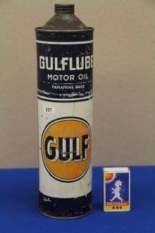 Plåtburk GULF Motor oil 28cm hög