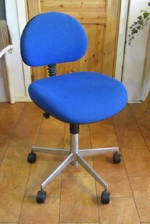 Blå Kontorsstol med hjul