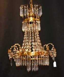 Ljuskrona Drottningholm Modell Empirstil 1900-Talets Första Hälft
