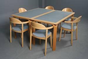 Magnus Olesen To borde samt 6 stole i bøg 8