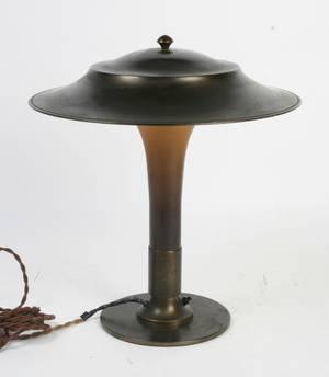 Fogh Mørup Fakkellampenbordlampe Art Deco form, 1930erne,