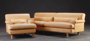 Erik Jørgensen. Tre-pers.sofa samt hvilestol, model Cicero
