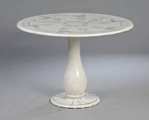 Udendørs italiensk bord af glaseret keramik
