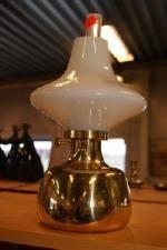 Bordsoljelampa mässingglas, Petronella des. Henning Koppel